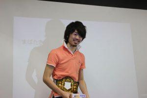 優勝、秘書賞、教員賞の3冠獲得の松井くん