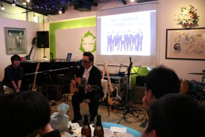 塚本先生オリジナルソング「青春の歌」を弾き語り