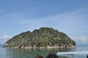 琵琶湖に浮かぶ無人島です
