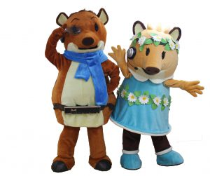 ツカボー(左)とらぼりん(右)